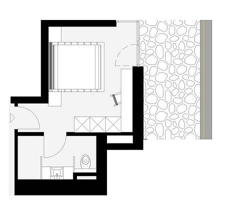 Grundriss Talblick-Zimmer 10