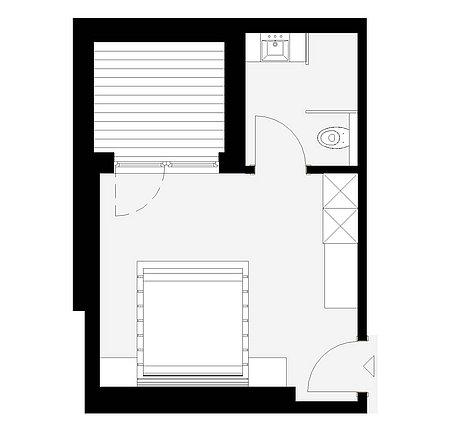 Grundriss Lichthof-Zimmer 30