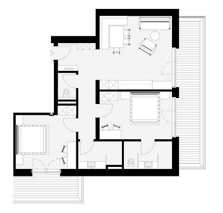 Grundriss Apart 8 für 4 – 6 Personen
