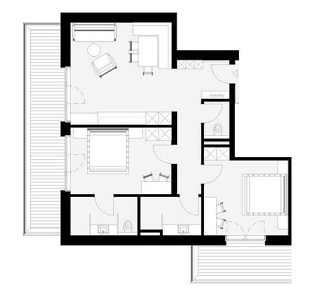 Grundriss Apart 7 für 4 – 6 Personen