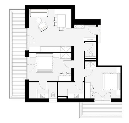 Grundriss Apart 4 für 4 – 6 Personen